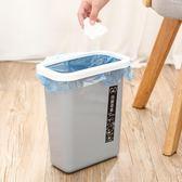 創意可壁掛式加高大號塑料廚房懸掛櫥櫃門掛式雜物垃圾桶家用垃圾桶 【korea時尚記】 IGO