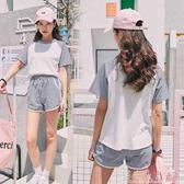 休閒運動套裝女夏新款韓版寬松短袖短褲學生跑步兩件套女 錢夫人小鋪