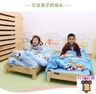 兒童床 幼兒園床午休床托兒所單人實木床幼兒折疊床早教午睡床帶護欄 叮噹百貨