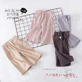【好康618】女童闊腿褲兒童寬腿褲寶寶九分褲七分夏褲
