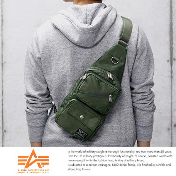 現貨【ALPHA】日本品牌 斜背包 降落傘布 腳踏車包 A5 單肩後背包 IPad mini尺寸5個口袋12689059