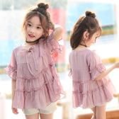 女童短袖娃娃衫夏季2018新款棉麻寶寶時尚女孩 LQ4059『小美日記』