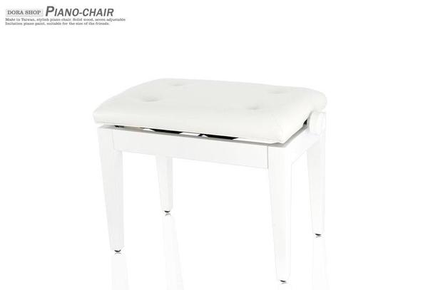 小叮噹的店 - 白色鋼琴椅 台製 六段升降椅 A063 鋼琴亮漆 鋼琴椅