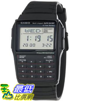 [106 美國直購] Casio 25 Page Databank Resin Watch, 10 Year Battery, Chronograph, DBC32-1A