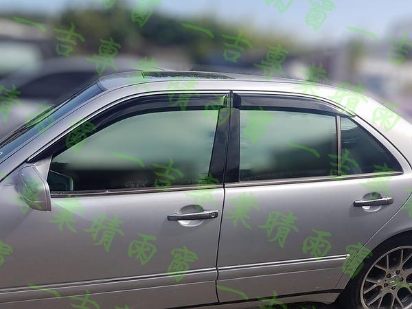 【一吉】95-02年 賓士W210(舊E系列) 鍍鉻飾條款 +原廠型 晴雨窗 /外銷日本(W210晴雨窗,W210 晴雨窗