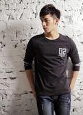【BTIS】3/4-Splicing Sleeve Tee 男七分袖T恤 黑色
