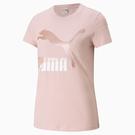 PUMA Classics 女裝 短袖 T恤 休閒 珠光 大跳豹 棉 歐規 粉【運動世界】53007736