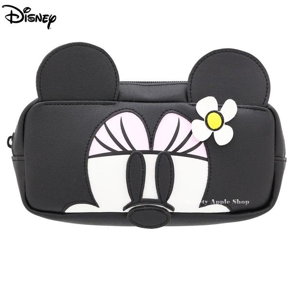 日本限定  迪士尼 米妮 大臉 筆袋 / 收納包