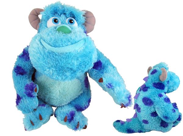 【卡漫城】 毛怪 33cm 玩偶 坐姿 長毛款 ㊣版 Sulley 怪獸大學 電力公司 絨毛娃娃 擺飾佈置 MU