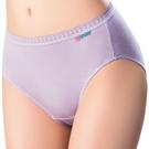 思薇爾-柔感棉系列素面中腰三角褲(花香紫)