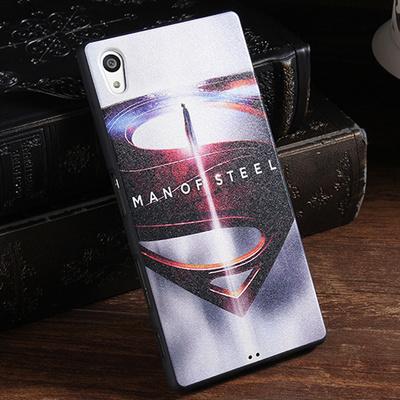 King*Shop~新款索尼Z5premium蠶絲紋手機殼Z5 Plus卡通矽膠套E6883 全包軟套5.5寸