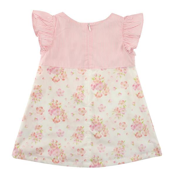 【愛的世界】純棉圓領櫻花拉鍊無袖洋裝/2~4歲-台灣製- ★春夏洋裝 涼夏推薦