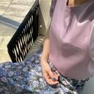 涼感衣 涼感新世界桑蠶絲上衣凈版百搭t恤絲光棉短袖女純色真絲-Ballet朵朵