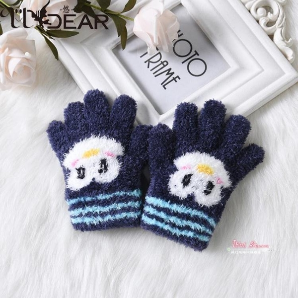 兒童手套 寶寶手套兒童冬季3五指分指手套2019新款保暖可愛彈力手套 5色