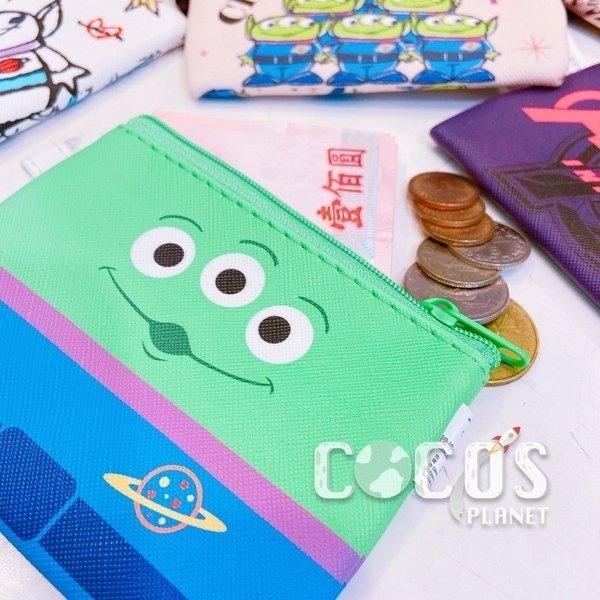 正版 迪士尼 玩具總動員 火腿豬 HAMM 雙面斜紋皮革零錢包 鑰匙圈零錢包 收納包 COCOS WZ075