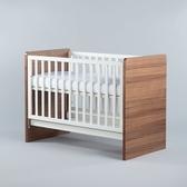 【贈純棉床包1入】Moji Dreamy 成長型原木嬰兒床(含床墊)-琥珀棕