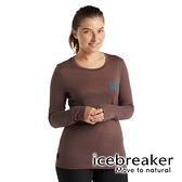 【icebreaker】Tech Lite II 女 羊毛圓領長袖上衣 AD150『肉桂深褐』 羊毛 吸濕 排汗 抑味 控溫 0A59IT