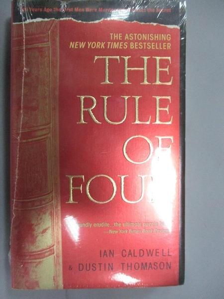 【書寶二手書T9/原文小說_ISZ】The Rule Of Four_Caldwell, Ian/ Thomason, Dustin