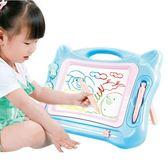 支架式畫板兒童磁性寫字板寶寶彩色磁力塗鴉板黑板1-3歲2幼兒玩具 HM 范思蓮恩