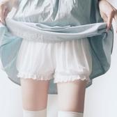 安全褲 春夏蕾絲不卷邊可愛少女安全褲防走光純棉大碼打底學生保險短褲女  艾維朵
