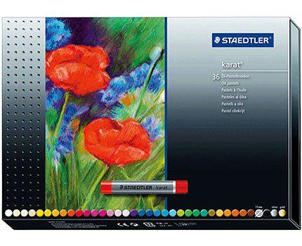 德國STAEDTLER施德樓金鑽專家級油性粉彩條36色*ms2420C36