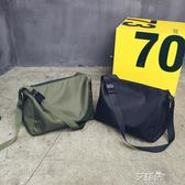 斜背包大容量休閒單肩包簡約時尚尼龍斜背包男女短途旅行袋運動健身包包 艾維朵