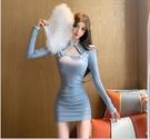 旗袍 旗袍秋裝新款復古年輕款改良版性感緊身包臀連衣裙【快速出貨】