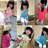 中小童上衣  韓版百搭糖果 短袖上衣 圓領娃娃 衫寬鬆 T恤 Be Fashion