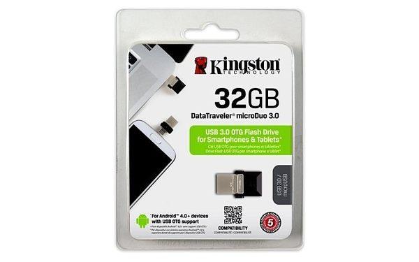 金士頓 隨身碟 【DTDUO3/32GB】 32G DataTraveler OTG 手機電腦兩用隨身碟 新風尚潮流