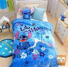 史迪奇-保暖法蘭絨毯(大件)走進迪士尼世界【睡眠屋】