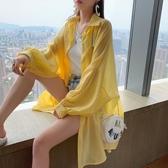 防曬衣 女外套薄2020夏新款韓版寬鬆學生超火cec洋氣襯衫開衫上衣 JX2376『Bad boy時尚』