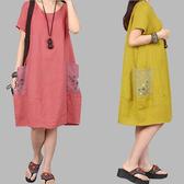 鈕釦雙口袋顯瘦洋裝 獨具衣格 J2893