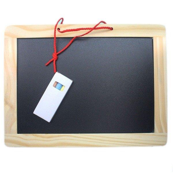 實木框 磁性小白板 小黑板 雙面205mm x 270mm/一個入(促99) 磁性白板 黑白畫板-AA6714