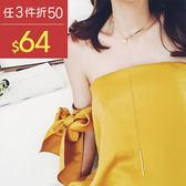 頸鍊 長條 金屬 珠珠 造型 簡約 項鏈【TSXE657】 BOBI  03/30