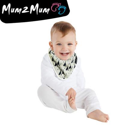 Mum 2 Mum 雙面竹纖維棉機能口水巾圍兜-印地安帳篷/X號【佳兒園婦幼館】