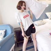 夏季短袖睡衣女韓版清新學生甜美可愛女家居服兩件套裝【店慶滿月好康八五折】