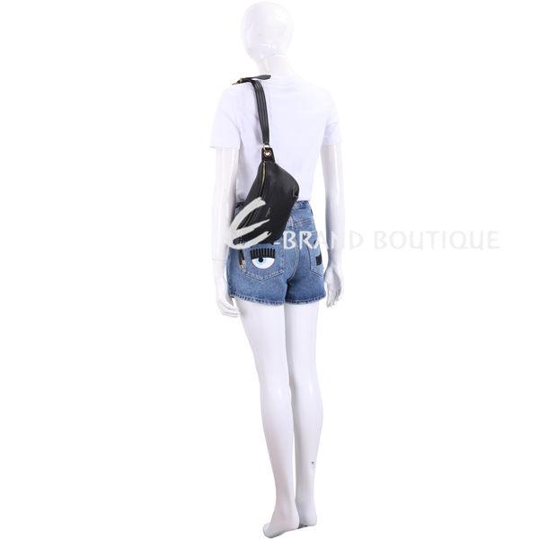 GIVENCHY Whip 小牛皮肩胸包/腰包(黑色) 1920301-01