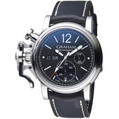 GRAHAM格林漢 左冠復古紳士計時腕錶 2CVAS.B02A.L127S