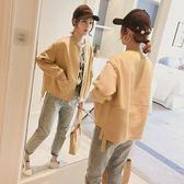 外套女秋冬短外套韓版寬松夾克秋季外套棒球服GB211A.6508胖胖唯依2店