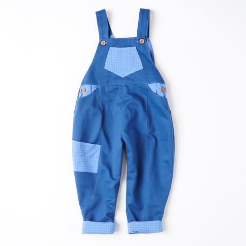 男女童連身褲 / 英國手工製 / 海軍藍吊帶褲 WAHT MOTHER MADE