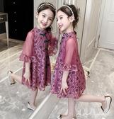 女童漢服連身裙夏裝2020新款夏裝小女孩蕾絲裙兒童紗裙民族風旗袍洋裝 yu12974『寶貝兒童裝』
