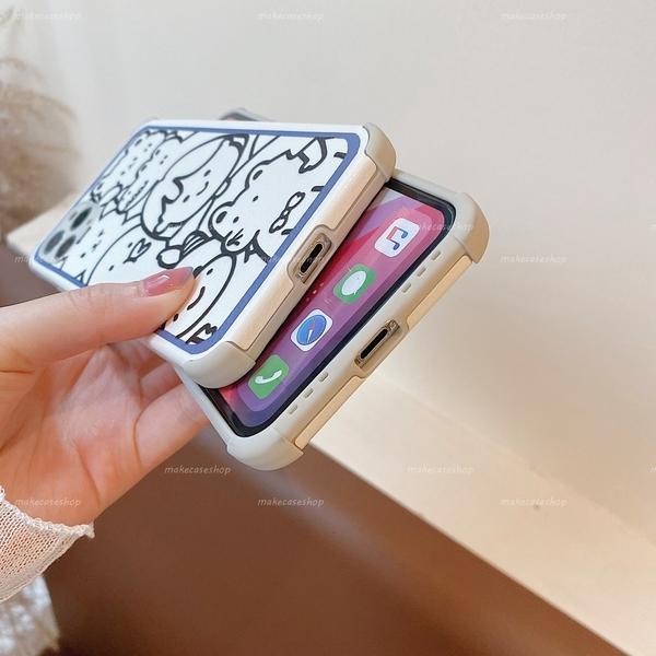 素描圖像|蘋果 iPhone 6 6s i7 i8 Plus SE2 XR XSmax i12 i11 Pro 學生相框 動物集合 鏡頭精準 手機殼 掛繩孔