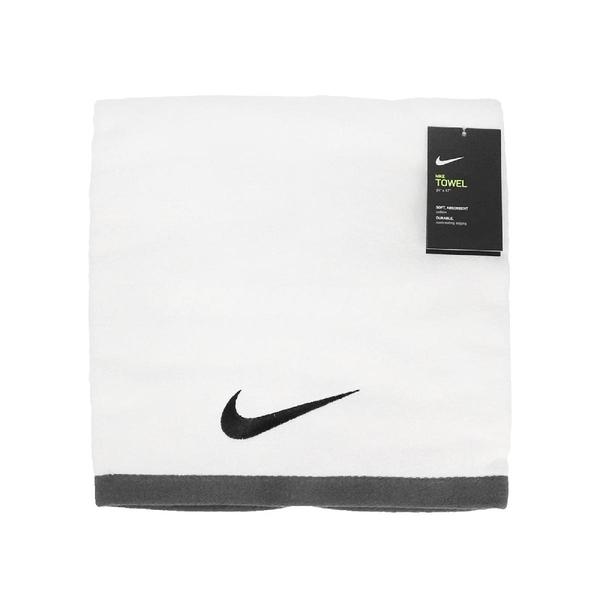 Nike 毛巾 Fundamental Towel 白 黑 運動毛巾 大浴巾 純棉 運動 籃球 【ACS】 N100152210-1LG