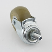 2吋PU耐磨型活動透明輪3/8吋牙-25KG