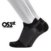 OS1st 足底筋膜壓力襪/壓縮踝襪 FS4 (黑)