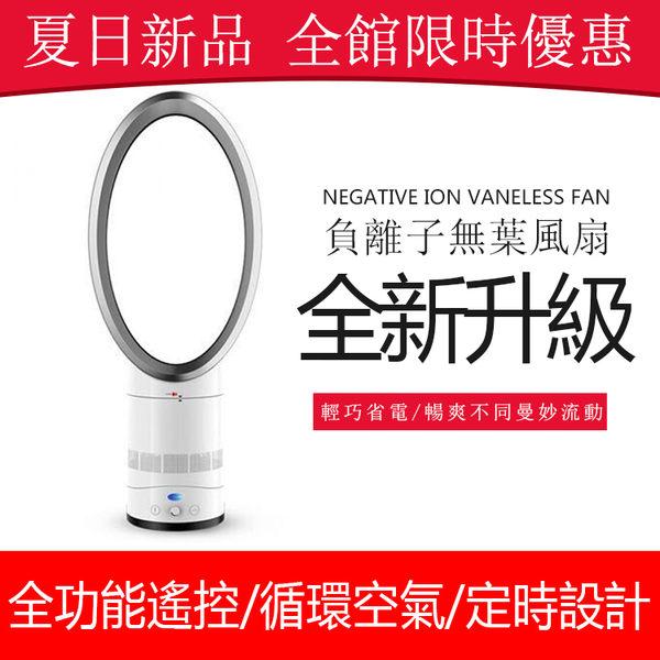 14寸無葉風扇靜音家用帶空氣凈化功能台式落地電風扇可遙頭無葉風扇 LOLITA