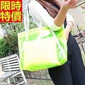 手提果凍包-透明氣質可愛風女防水包2色68a9【巴黎精品】