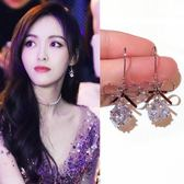 純銀蝴蝶結耳環夏季款 女氣質韓國鑽球耳墜簡約百搭耳鉤   奇思妙想屋
