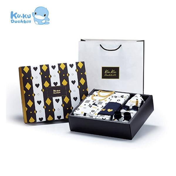 酷咕鴨 KUKU 純真之瞳包巾豪華禮盒(16件組)