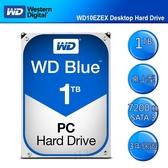 WD 【藍標】 1TB WD10EZEX (3.5吋64M7200轉SATA3三年保) 桌上型硬碟